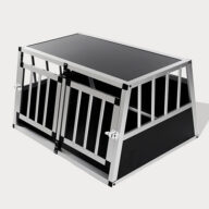 Small Double Door Dog Cage With Separate Board 65a 89cm 06-0771 Dog House: Pet Products, Dog Goods Dog Cage