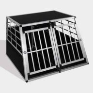 Aluminum Dog cage size 104cm Large Double Door Dog cage 65a 06-0775 Dog House: Pet Products, Dog Goods Dog Cage