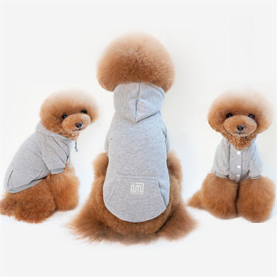 Design Dog Hoodies Letter Printed Dog Hoodies Pet Fashion Sweatshirts Autumn Pet Apparel Teddy Puppy New Apparel Warm Pet Clothes