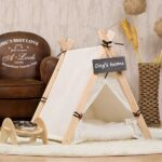 Pet Tent: White Front Lace Dog House Lace Teepee 06-0950 Pet Tent: White Front Lace Dog House Lace Teepee 06-0950